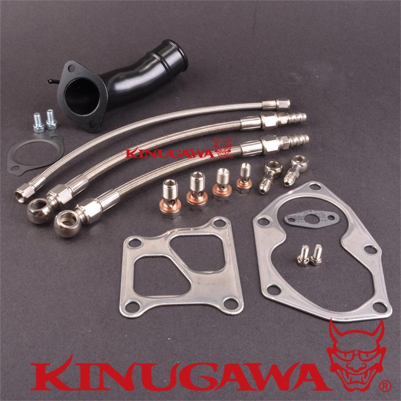 Kinugawa Turbo Install Kit for Mitsubishi 4G63T EVO 4-9 TD05HR kinugawa turbo install kit for nissan rb20det rb25det w for kinugawa td05h td06