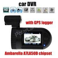 Free Shipping Mini 0805 Dashboard Car DVR Camera Ambarella A7LA50D HD with GPS logger dash camera auto automotive