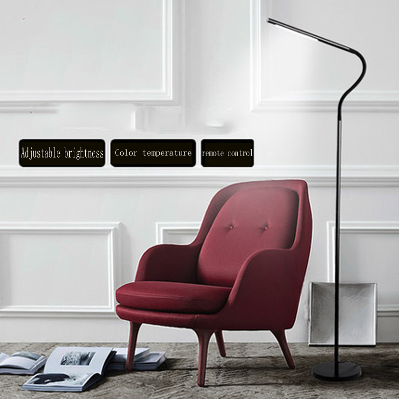 Led floor lamp living room bedroom study office floor lamp Nordic minimalist modern piano reading eye vertical desk lamp ...