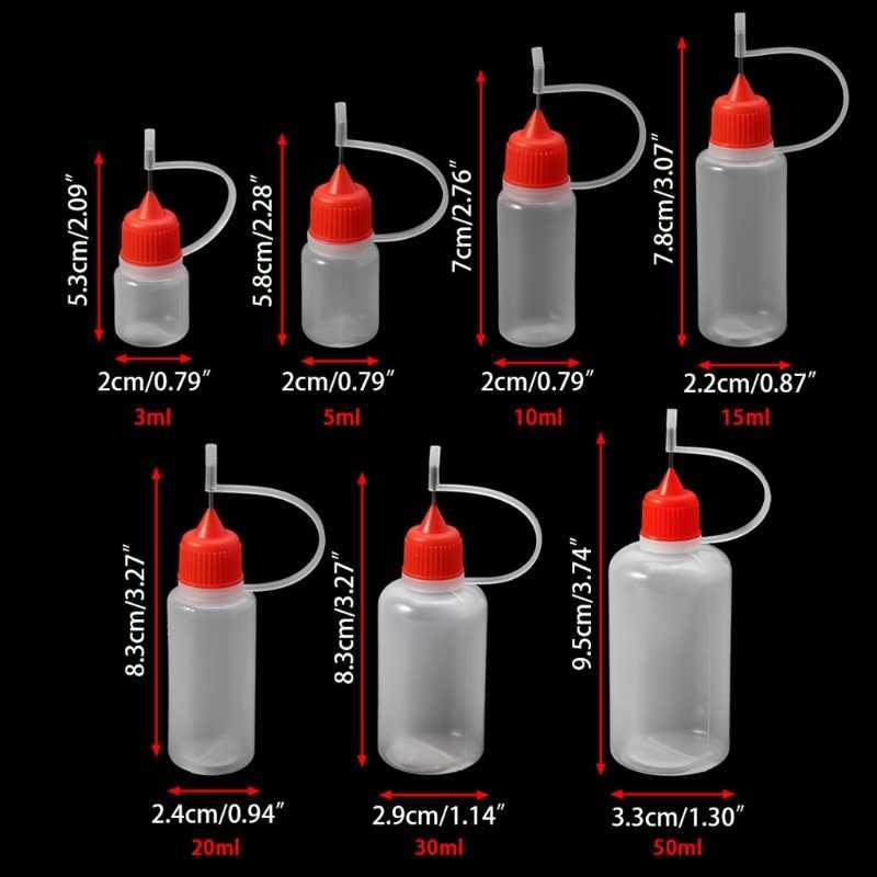 3ml-50 punta de aguja ml LDPE vacía Squeeze cuentagotas de jugo de llenado Ojo de botella de líquido