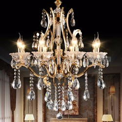 Gold-finish-crystal-chandelier-lustres-de-cristal-lustres-de-teto-lamparas-colgantes-indoor-decoration-lighting-fixture