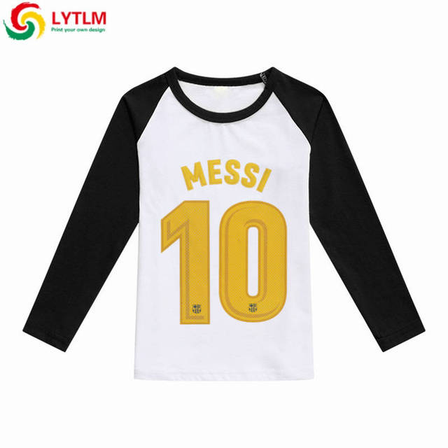 80da89afc LYTLM Messi Argentina Children Tops Tees Kids Boys Clothes Long Sleeve T  Shirt Baby Girl Boy Raglan Cotton White Shirt for Boys