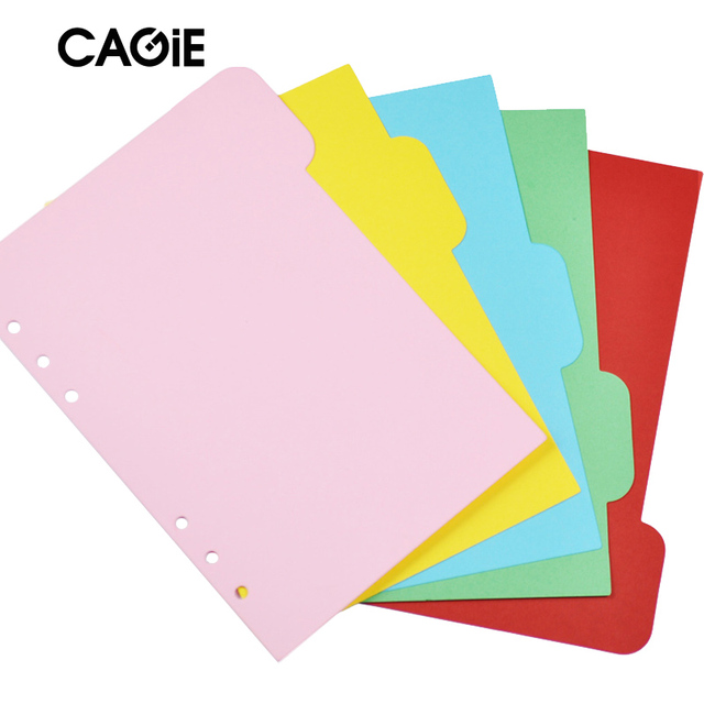 CAGIE Candy Color Homemade Inner Core Of Notebook Creative Solid Color Binder Index Dividers Paper For Planner/Diary 5 Sheets