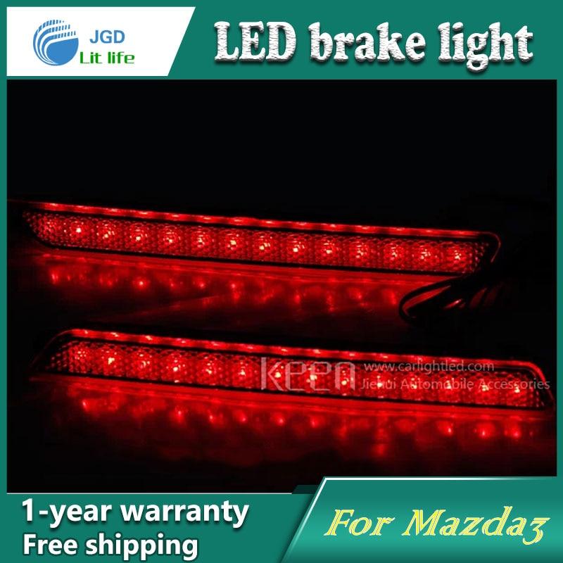 Car Styling Rear Bumper LED Brake Lights Warning Lights case For Mazda 3 Mazda3 Accessories Good Quality