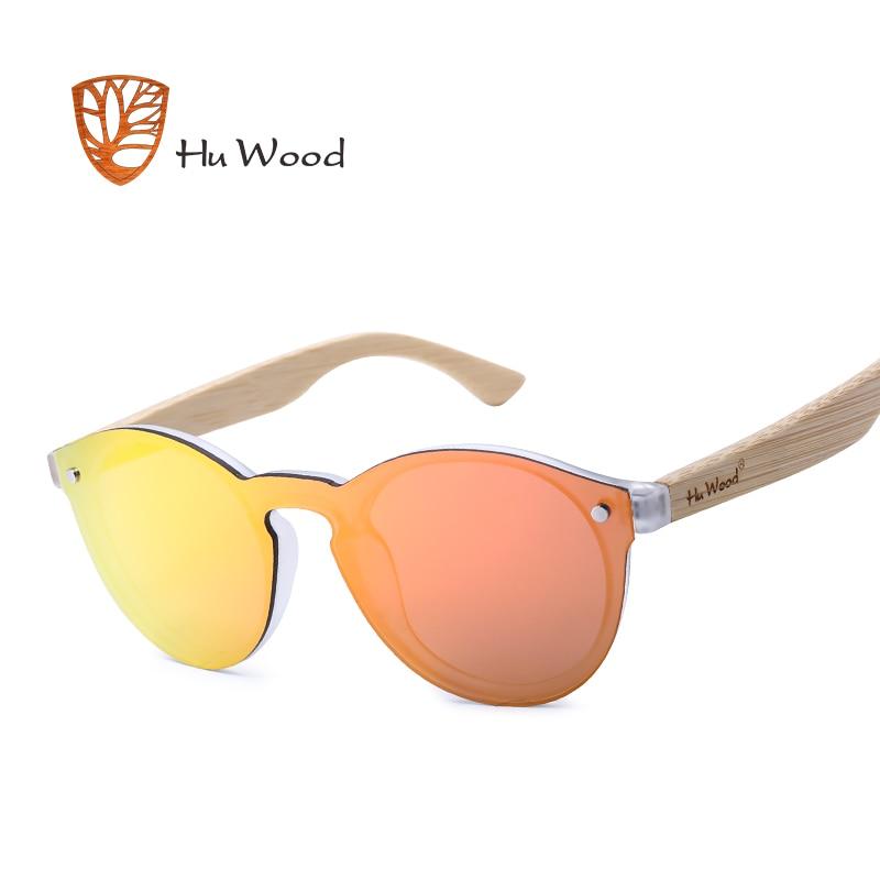HU WOOD Men Mirror Linser Trä Solglasögon Multi Color Woman - Kläder tillbehör - Foto 2