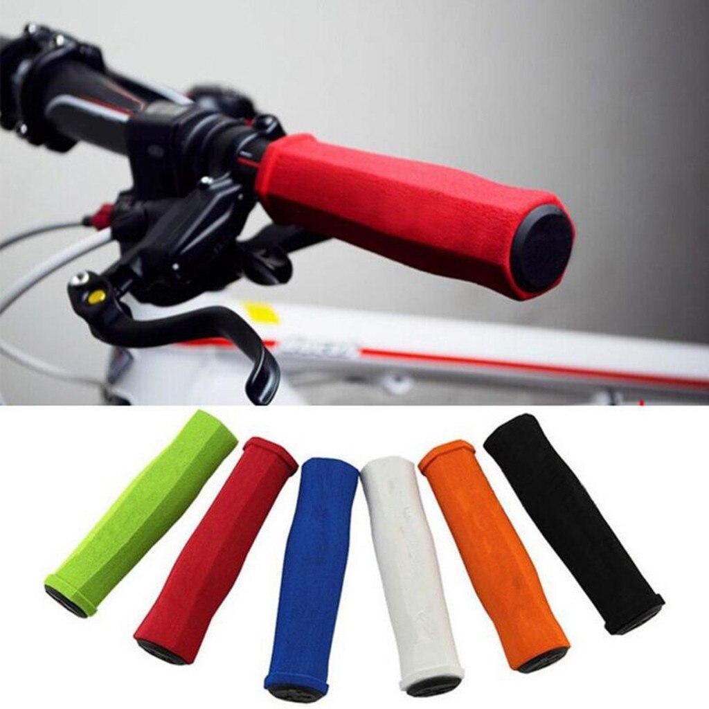 2pcs cycle road bike handlebar end lock-on plugs bar grips caps covers VN