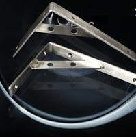 2pcs 160X300mm 304 Stainless Steel Shelf Holder Bracket Triangular Commodity Shelf Wall Shelf Shelf Supporting Frame