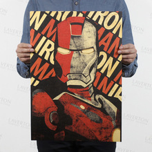 Marvel  Figures Toys Avengers 4 Endgame Iron Man Spiderman The Avengers Vintage Kraft Paper Home Decor Art Retro Prints Toy Gift