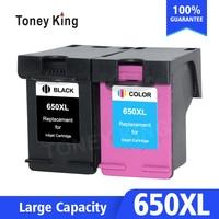 Toney könig 650XL Tinte Patrone Ersatz für HP 650 XL für HP Deskjet 1015 1515 2515 2545 2645 3515 3545 4515 4645 drucker-in Tintenpatronen aus Computer und Büro bei