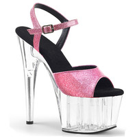 Fashionable shoes with 15CM high heeled open toe sandals, pole dancing/performance/model with super high heels, wedding sandals