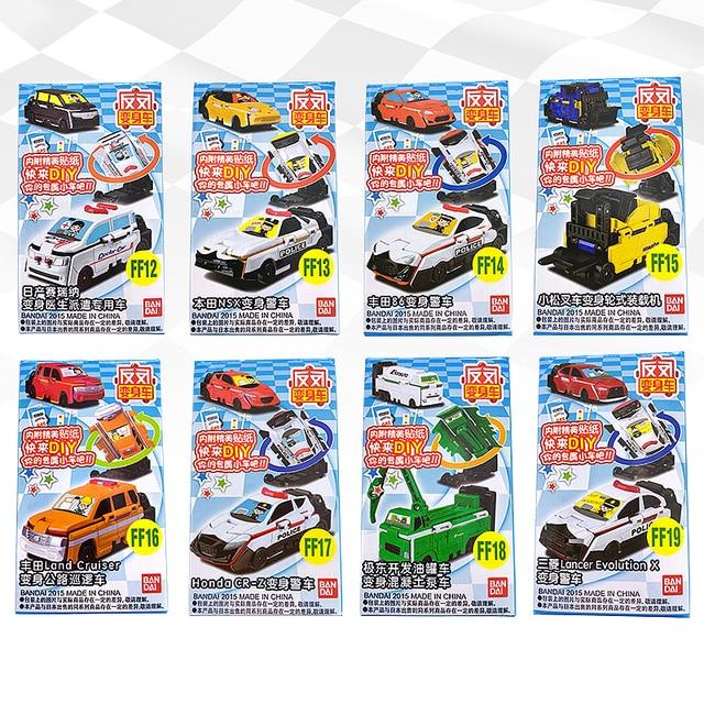 반다이 voov 변형 구조 경찰 트랜스 포터 엔지니어링 플라스틱 모델 차량 장난감 자동차 어린이 선물 새로운