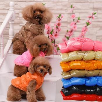 a8e3fcc0d6d Теплая одежда для собак зимняя флисовая внутри бульдог жилеты для щенков  Одежда для собак Куртки ветрозащитная 8 цветов Одежда для средних .