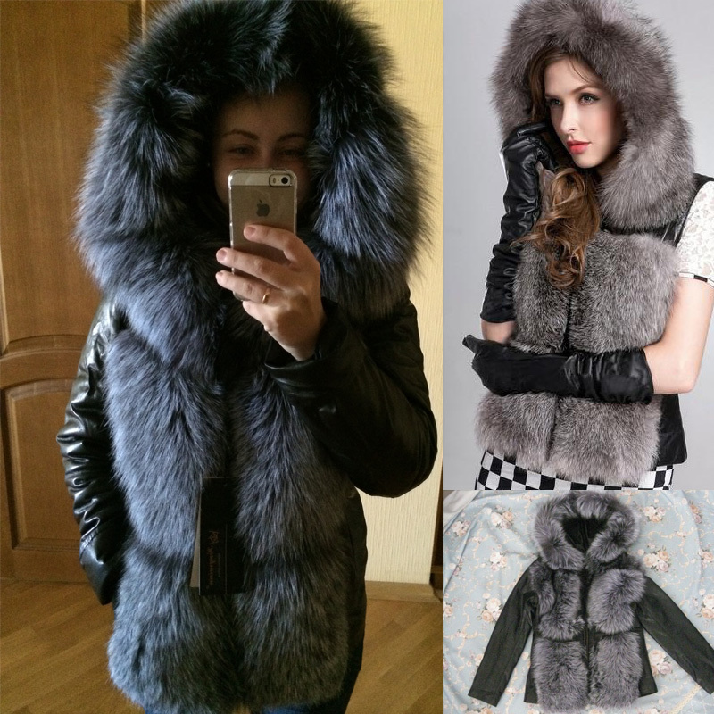 Women'S Jacket With Fur Hood | Fit Jacket