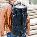 Tambor balde saco terno ginásio mochila saco de viagem manTop qualidade patchwork Grande Capacidade Multifuncional dos homens