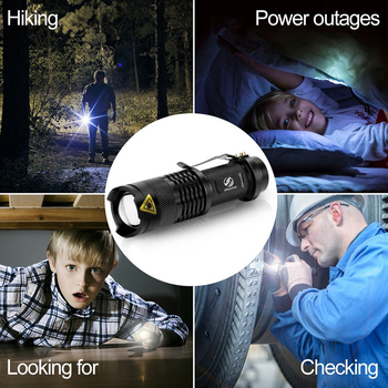 Colourful Waterproof LED Flashlight High Power Mini Spot Lamp 3 Models Zoomable Camping Equipment Torch Flash Light 6
