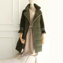 OLN 2017 Winter Outerwear Down Coat Fashion Thicken Women Down Jacket Medium-long High Quality Warm Overcoat Europe Coats L XL