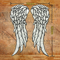 Walking Dead Governor Daryl Dixon Angel Night Reflective Wings Embroidery Patches Big Cloth Stickers Badge Luminous Bless Safety
