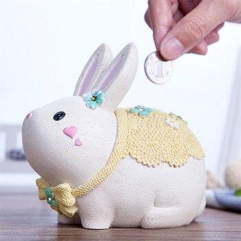 tirelire lapin blanc bébé coté