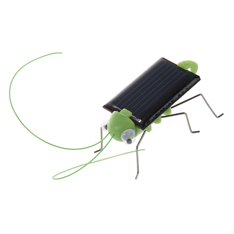 Solar Powered Grasshopper. Just Place in the Sun and Watch its Legs Jiggle and Wiggle ...