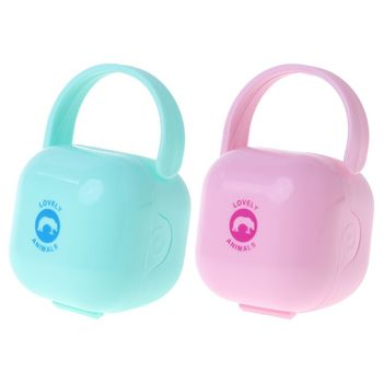 Baby Pacifier Box Storage Case Handle Newborn Soother Container Portable Clean Travel Holder Kids Children Dust Proof