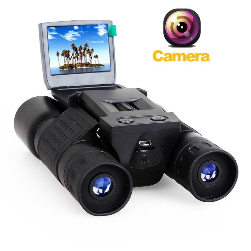 2 LCD Screen HD 720P USB Digital Camera Binocular Telescope 96m/1000m 12x32 Zoom Binoculars Telescope DVR Photo Video Recording super dragon 1612hd 12 5x optical zoom professtional digital camera 16mp 720p hd video 2 7 screen disposable camera