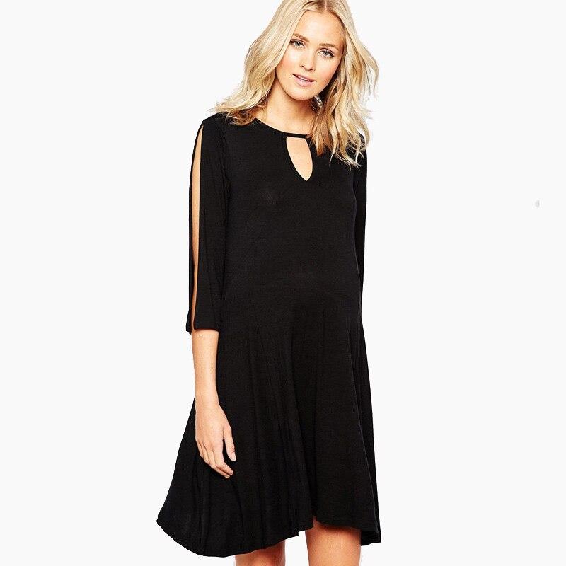 udløb overlegen kvalitet sarte farver US $31.69 30% OFF Lycra Maternity Clothes Plus Size Maternity Dress for  Pregnant Women Knee Length Working Mommy Dress Elegant Lady Vestidos-in ...