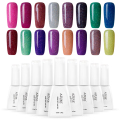 Azure Colorful Neon Nail Gel Soak Off UV Gel Polish With DIY Nail Art UV Gel Polish Lacquer Long Lasting UV Gel Lacquer