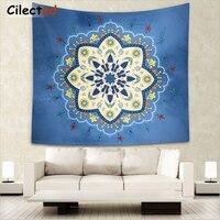 Cilected floral azul manta India Tapices mandala manta colgante Tapices pared Alfombras hippie decoración tapiz hippie