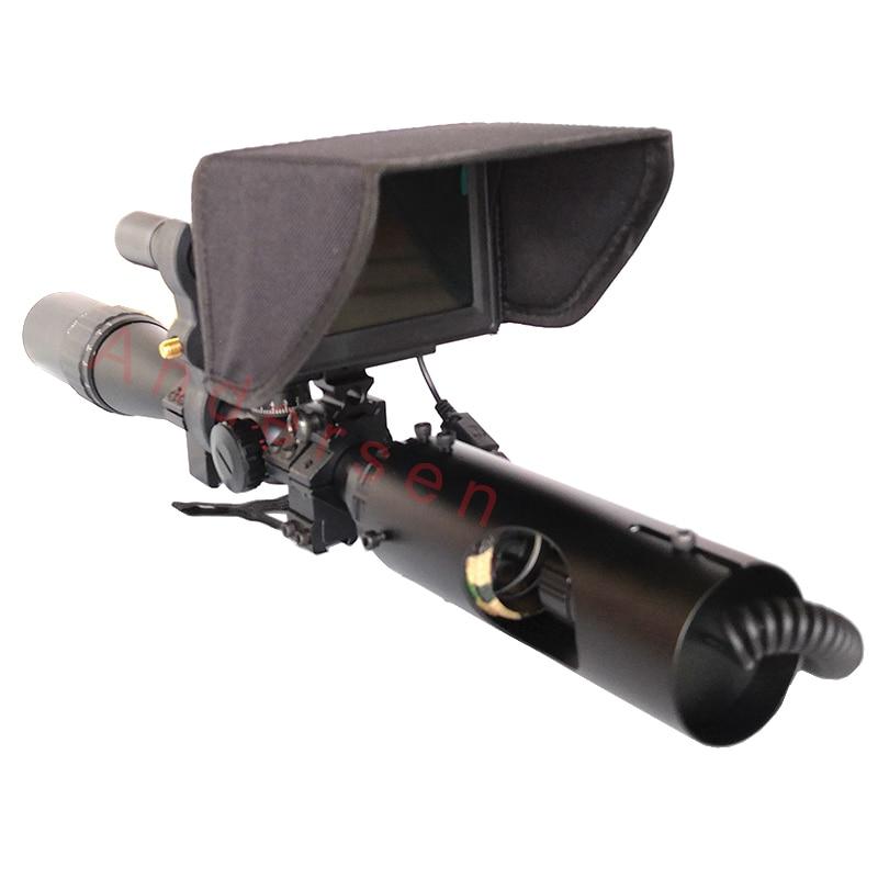 2019 nouvelle lunette de visée tactique de chasse en plein air chaude vision nocturne infrarouge avec parasol nouveau LCD