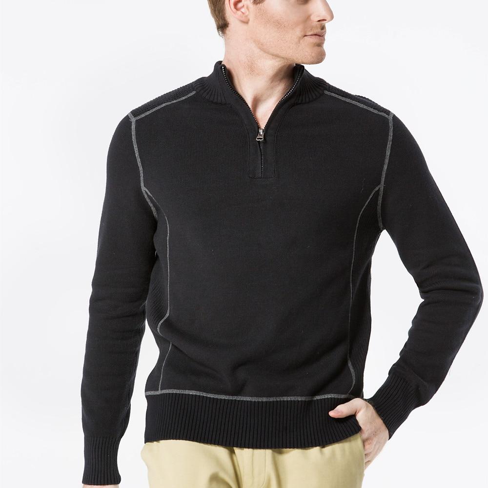 Aismz Men Sweater Pullovers 100% ბამბა 2017 ახალი - კაცის ტანსაცმელი - ფოტო 5