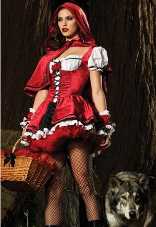 Christmas clothes cosplay little red riding hood queen of the queen costume