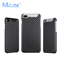 Cutted Genuine Carbon Fiber Case for iPhone 6 6S 7 7 Plus Case Cover With Rubber Coating Soft Touch Case Carbon Fibre Cases