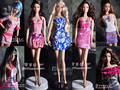 Бесплатная доставка, оригинальная одежда для Barbie doll, куклы платье партии одежды, 6 стилей моды платье 6 шт./лот
