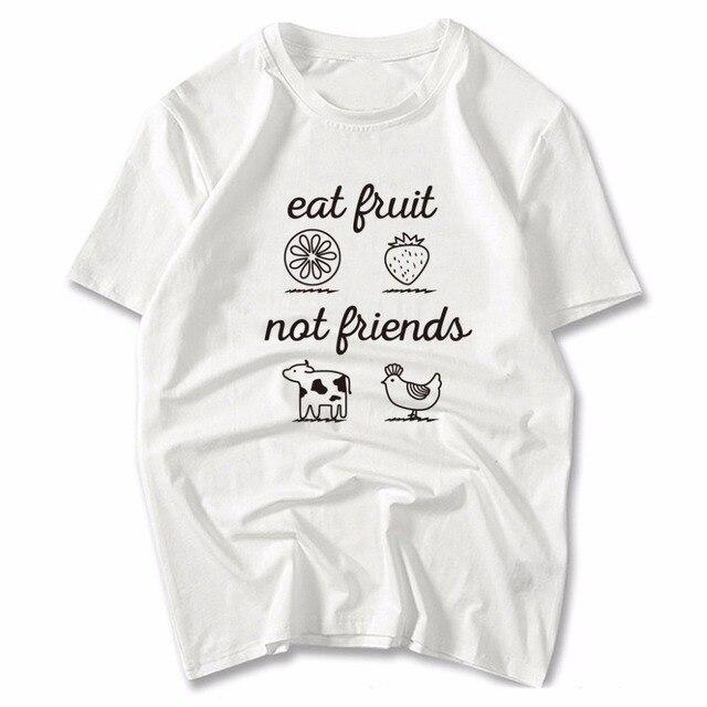 6f3c3fd3fc2c Hillbilly Eat Fruit Not Friends T-Shirt Ladies Unisex Clothing Crewneck  Shirt Cute Vegan Shirt Funny Vegan Men s T-shirt Gift