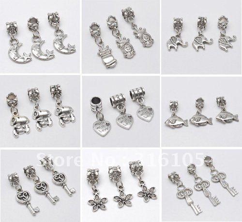 100pcs  mix tibet silver  charms Fit biagi Chamilia italian bracelets free postage