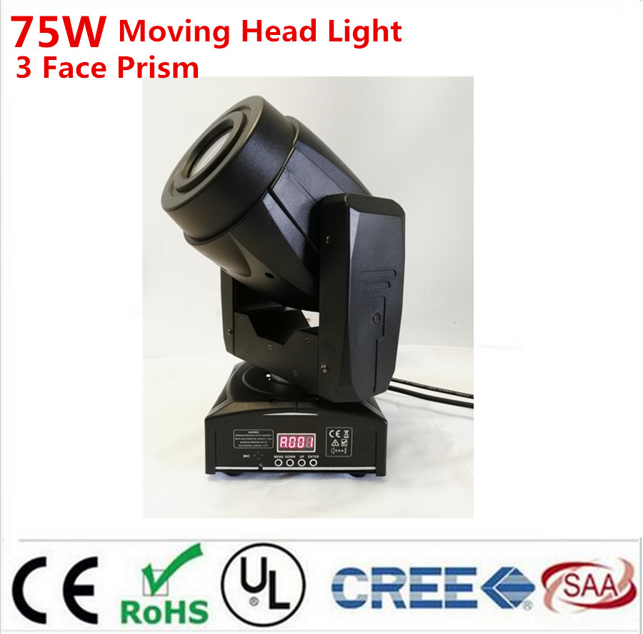 Горячая 75 Вт Moving Head 3 Уход за кожей лица prisspot этап Освещение DMX канала привет-качество Лидер продаж Prism Moving свет новый Дизайн