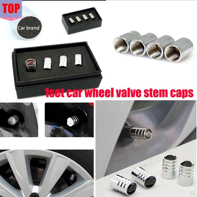 1setCar Accessories Car Tires Stems & Caps Car Wheel Valve Stem Cap For Prosche AUDI Toyota Hyundai Jeep Jaguar Fiat Chevrolet..