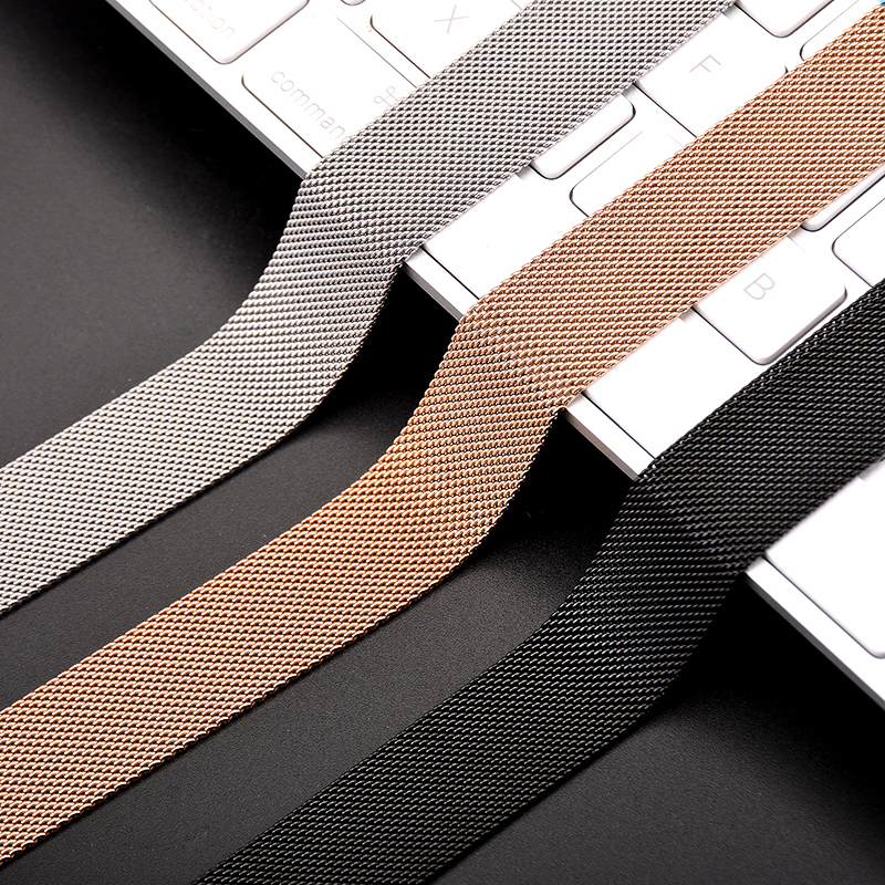 Metal Milanese Loop Band for Xiaomi Huami AMAZFIT Bip strap 20MM 22MM wrist band belt for Samsung Gear S3 Classic Frontier Strap (4)