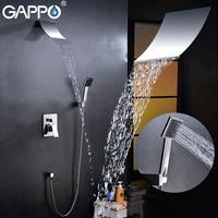 GAPPO Bathtub Faucet Wall Bathroom Shower Faucet Set In Wall Brass Rainfall Shower Mixer Tap Chrome