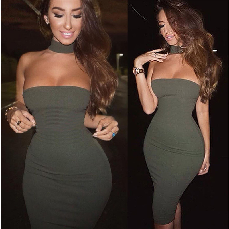 Humorous New Women Sexy Bandeau Bodycon Dress Camouflage Evening Party Club Pencil Dress Strapless Ladies Short Mini Dress Women's Clothing