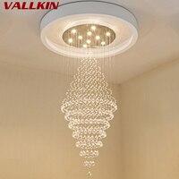 VALLKIN Modern LED Crystal Chandeliers Lights Lamp For Living Room Chandelier Lighting Pendant Hanging Ceiling Lamp