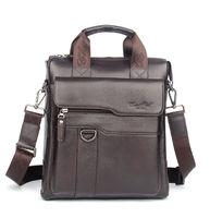 New Shoulder Bag Leather Briefcase Genuine Messenger Mens Bag Handbag