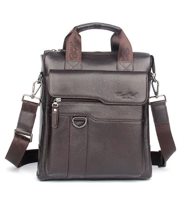 Men Genuine Leather Business Single Shoulder Bag Fashion Trend Cross Body Messenger  Bags Male Tote Handbag Luxury Briefcase 6e066077f3