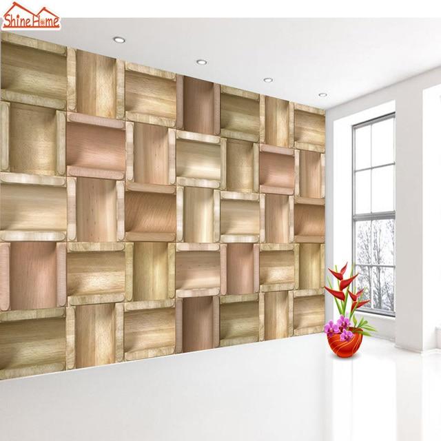 Shinehome custom retro ladrillo madera Marcos patrón 3D foto papel ...