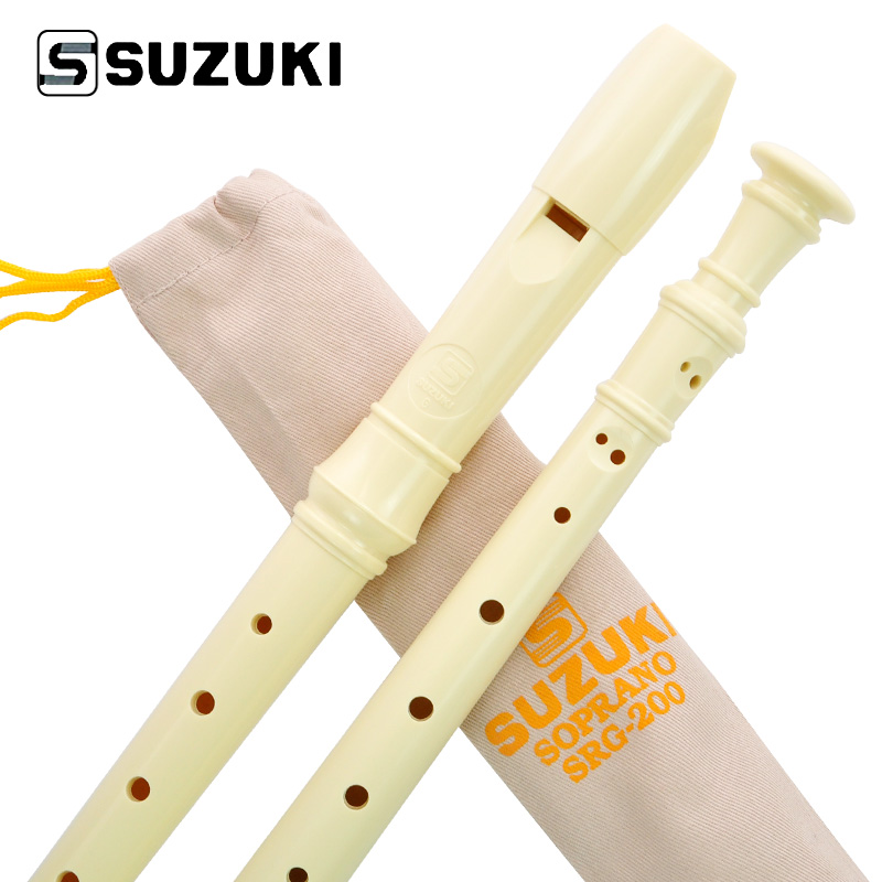 High-Quality SUZUKI SRG-200 Germany Type 8-Holes Soprano Recorder/ Flute Student Beginne ...