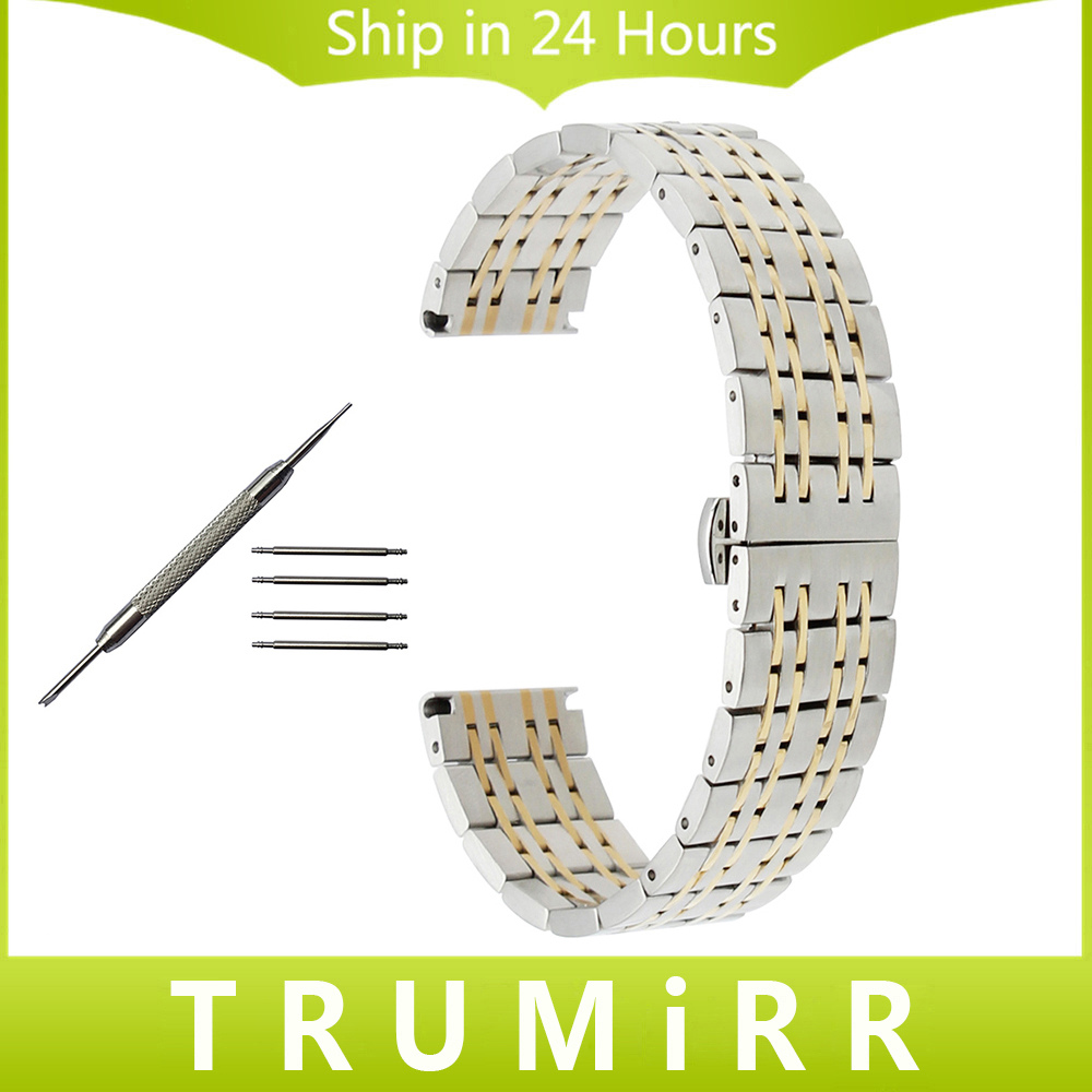18mm 20mm 22mm Stainless Steel Watchband for Tissot 1853 T035 PRC 200 T055 T097 Butterfly Buckle