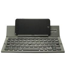 Складная клавиатура Bluetooth Портативный Беспроводной клавиатура для настольного ПК мини-ноутбук клавиатуры QWERTY держатель для IOS для Android Окна