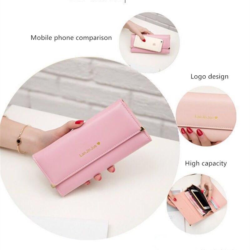 Fashion Women PU Wallet Women 39 s Handbag Hasp Wallet ZipperLong Purses Card Holder High QualitBolsa Feminina 2018 in Wallets from Luggage amp Bags