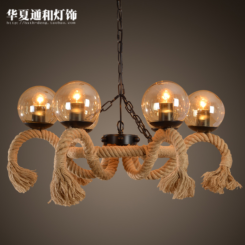 American country Vintage Linen glass ball pendant lights creative personality Restaurant Bar Cafe linen Pendant lamp retro industry country vintage linen glass ball pendant lights creative personality restaurant bar cafe linen pendant lamp zzp