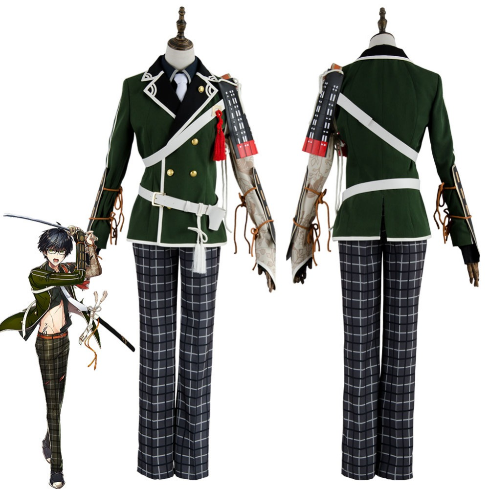 Token Touken Ranbu Cosplay Costume Kotegiri Gou Cosplay Costume Outfit Uniform Military Suit For Adult Halloween Costumes